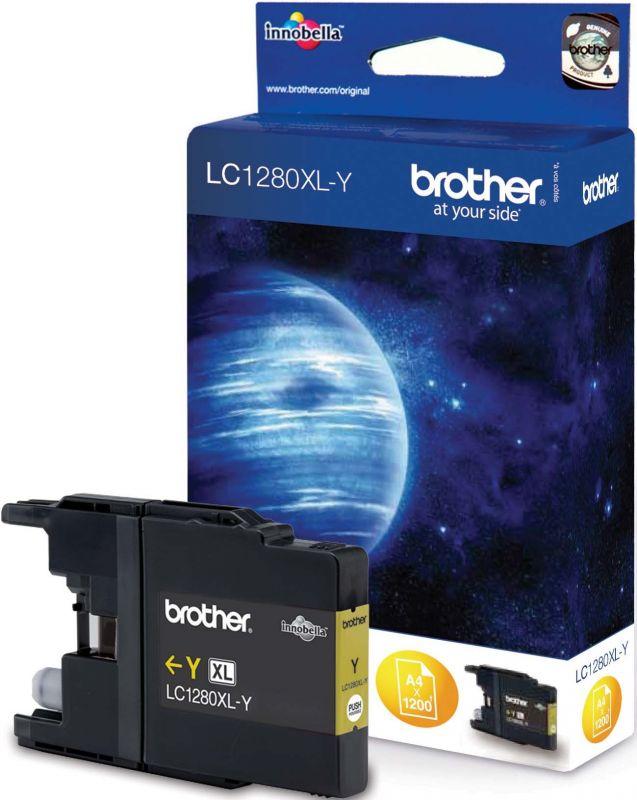 Brother LC1280XL-YW Оригинална мастилена касета (жълта)