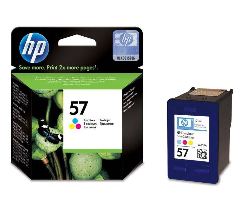 HP C6657AE оригинална мастилена касета (цветна)