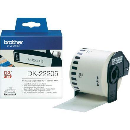 Brother DK-22205 Етикети (Black on White)