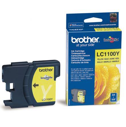 Brother LC1100Y Оригинална мастилена касета (жълта)