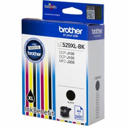 Brother LC529XLB Оригинална мастилена касета (черна)