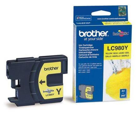 Brother LC980Y Оригинална мастилена касета (жълта)