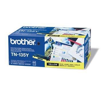 Brother TN135y оригинална тонер касета (жълта)