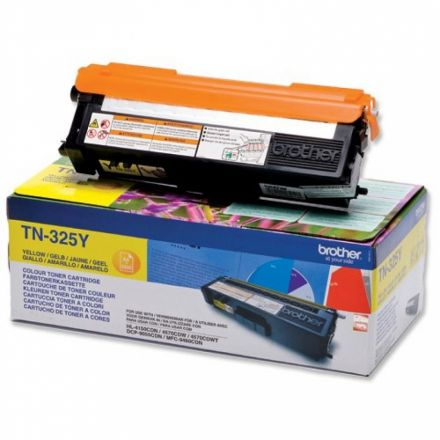 Brother TN325y оригинална тонер касета (жълта)