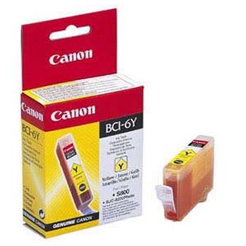 Canon BCI-6Y Оригинална мастилена касета (жълта)
