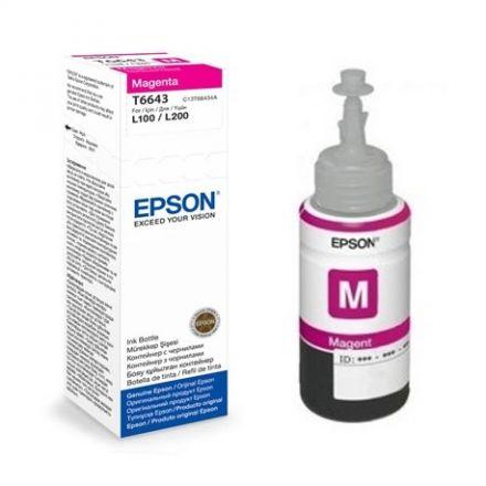 Epson T6643 Оригинално мастило (магента)