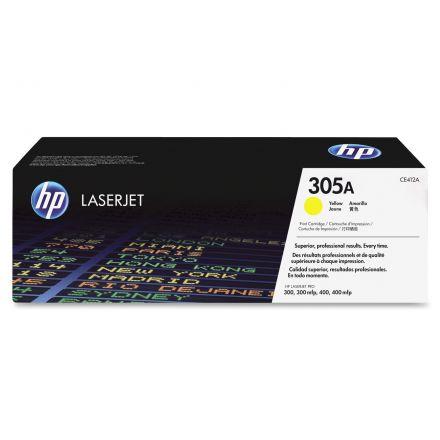 HP CE412A оригинална тонер касета (жълта)