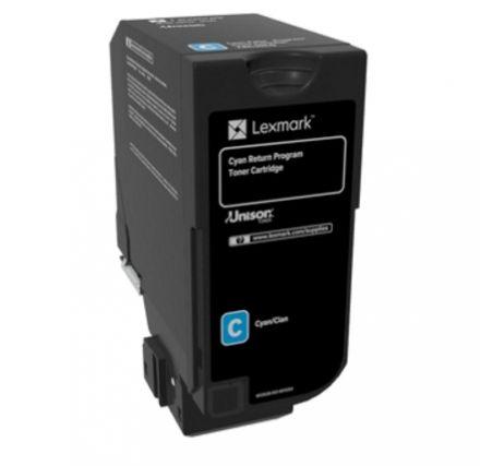 Lexmark 74C20C0 оригинална тонер касета (циан)