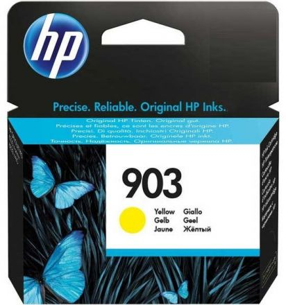 HP T6L95AE оригинална мастилена касета (жълт)